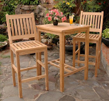 Anderson Teak Set-10 Bahama Avalon 3-Piece Square Bar Set