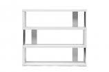 Barnes White Three-Shelf Modern Bookcase