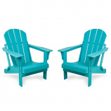 Westin Outdoor Laguna Poly Adirondack Chair -Set of 2, Blue