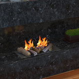 Regal Flame RFA1009 Ceramic Fiber Petite Fireplace Logs - Set of 9