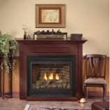 Deluxe 36 Tahoe DV IP Fireplace with Rectangle Doors, NG