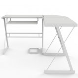 Ryan Rove RR1051 Madison 3-Piece L-Shaped Computer Desk in White