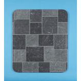 """Gray Tile Slate Metal Stove Board, 32"""" x 42"""""""