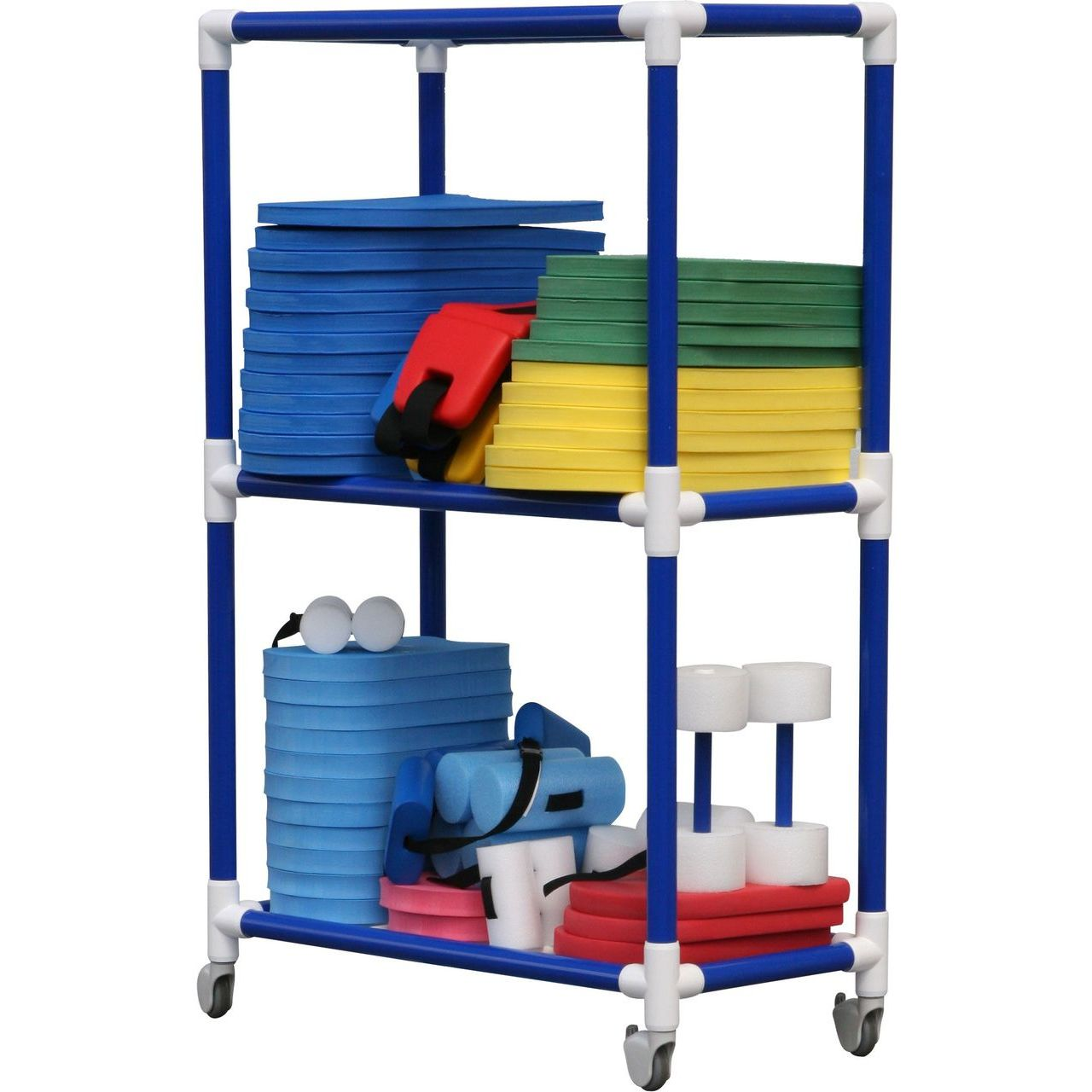 "DuraCart Aquatic Cart 3 Shelf With 4"" Wheels"