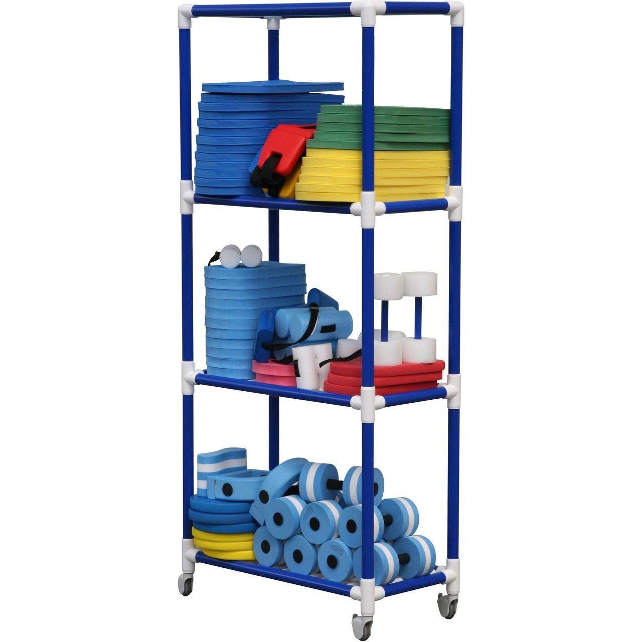 "DuraCart Aquatic Cart 4 Shelf With 4"" Wheels"