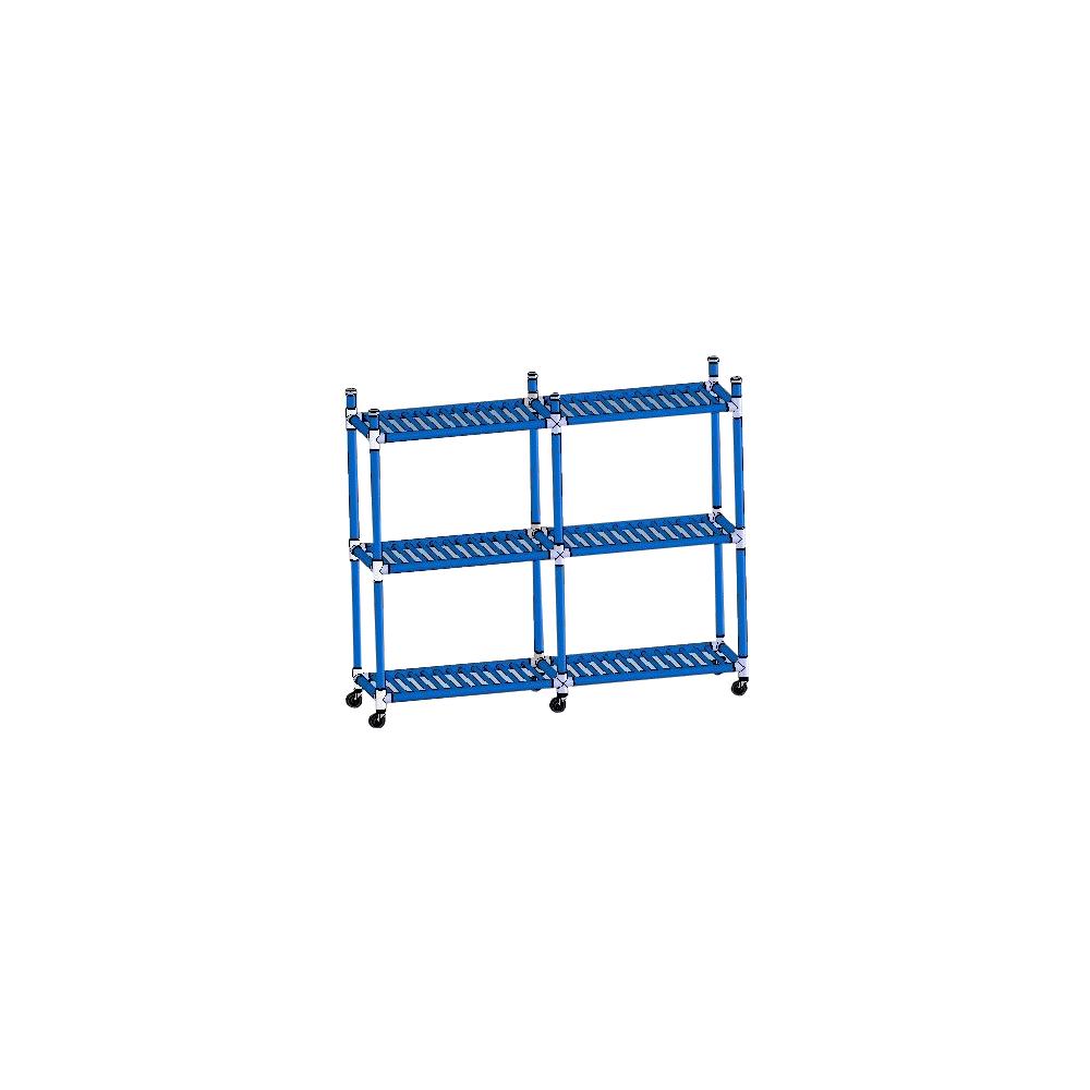 "DuraCart Aquatic Cart 6 Shelf With 4"" Wheels"