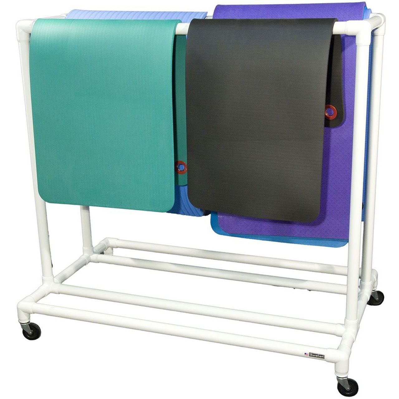 """DuraCart Light Weight Double Mat Cart With 4"""" Wheels"""
