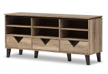 Wales Modern and Contemporary Light Brown Wood 55-Inch TV Stand