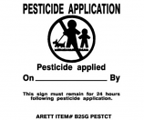 Pesticide Flags with Plastic Stakes Model B25G PESTCT