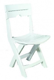 White Quik-Fold Chair By Adams Mfg