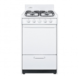 "Summit 20"" Gas Range with Electronic Ignition - White Model WNM1107"