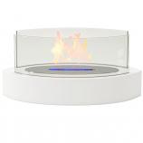 Regal Flame ET7013WHT Veranda Tabletop Portable Bio Ethanol Fireplace in White