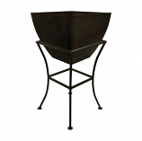"""RTS 16"""" Square Planter with Stand - Graphite"""