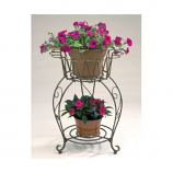 Metal Round Wave Planter By DEER PARK IRONWORKS