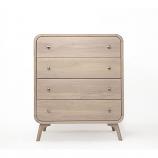 Oak Mood ABE-ZAR139 Abella High Dresser - Whitened Oak