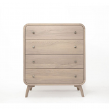 Oak Mood ABE-ZAR139 Abella High Dresser - Whitened Oak
