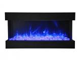 "Amantii 40-TRU-VIEW-XL 40"" Wide 3 Sided Electric Fireplace"