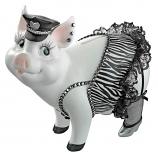 """7""""H Porker On Patrol Pig Statue By Design Toscano"""