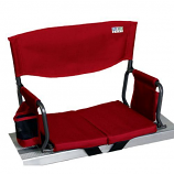 Shelter Logic 10118-1 Bleacher Boss Compact Stadium Arm Chair - Red