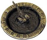 Rome Birdbath Sundial - Solid Brass with Antique Highlights