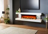 Evolution Fires EFV72GTW 72'' Vegas Electric Fireplace - White
