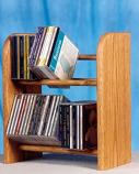 The Wood Shed 204 CD Rack - Dark