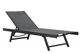 Vivere URBL1-BC Urban Sun Lounger - Aluminum - Black Chrome