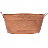 Achla C-55C Large Oval Hammered Copper Plated Tub