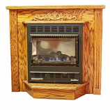 Buck Stove Deluxe Mantel for 1127 Fire Unit - Unfinished