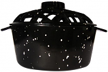 UniFlame Porcelain Coated Lattice Top Steamer - Black w/White Speckles