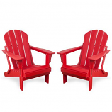 Westin Outdoor Laguna Poly Adirondack Chair -Set of 2, Red