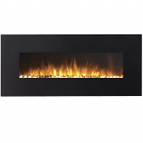 Regal Flame LW5098BK Rigel 50in Black Electric Wall Mounted Fireplace - Pebble