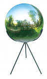 Rome Stainless Steel Globe w/Pedestal Base