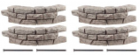"""RTS Set of 4 Curved Section Rock Lock w/ Four 18"""" Spike"""