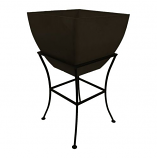 """RTS 20"""" Square Planter with Stand - Graphite"""