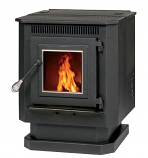 Summers Heat Pellet Stove with Auto Start and Blower - 40 lb Hopper