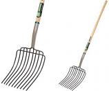 "Tru Tough 54L x 10""W Long Handle Manure/Bedding Fork T34G-30331 By Truper Tools"""