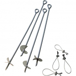 "30"" Auger Anchor - 4 Pcs By Shelter Logic"