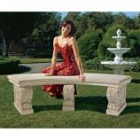 Salentino Crescent Garden Bench