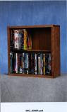 Solid Oak 2 Row Dowel DVD Cabinet Tower Model 215-18