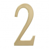 """4.75"""" Number 2 Satin Brass By Whitehall Products"""