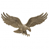 "American Crafted 29"" Wall Eagle - Antique Brass"