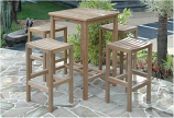 Anderson Teak Set-113A Bahama Montego 3-Piece Square Bar Set