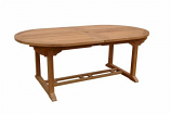 """Anderson Teak TBX-117VD Bahama 117"""" Oval Extension Table w/ Extensions"""