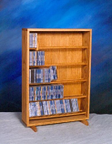 Solid Oak Dowel Cabinet for CD's Model 506-24