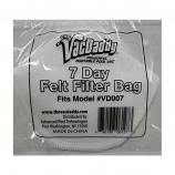 The VacDaddy 7-Day Felt Filter Bag