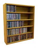 Solid Oak Tower for CD's (Ind. Locking Slots)- Honey Oak Model 503-2