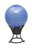 """12"""" Gazing Globe, Blue Lapis, Crackle"""
