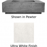 Prism Hardscapes Tavola 1 Fire Table in Ultra White - NG
