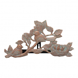 American Crafted Chickadee Hose Holder - Copper Verdigris